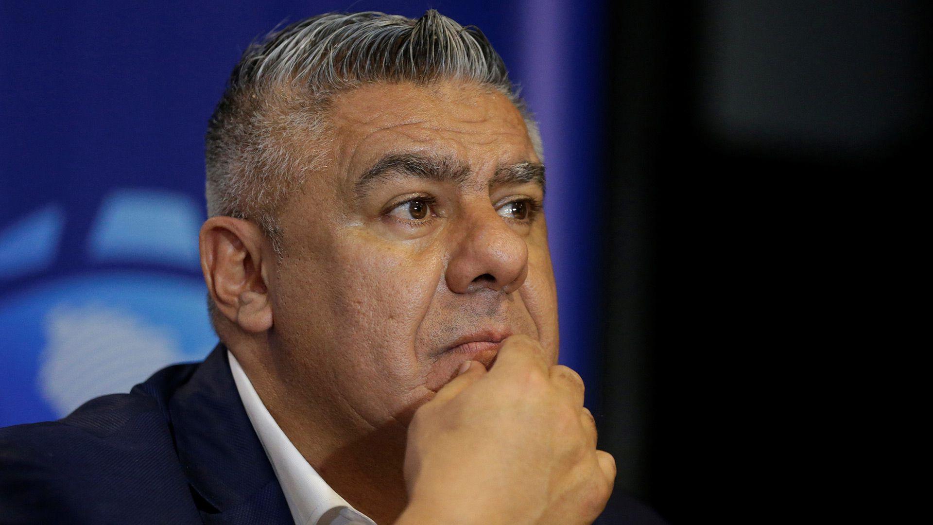 Claudio Tapia habló sobre el reinicio de los entrenamientos en el fútbol argentino (Foto: Reuters)