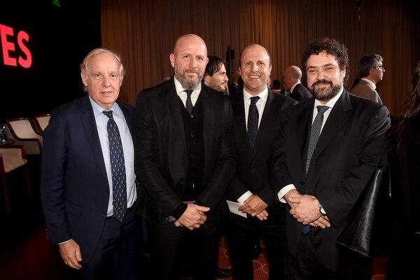 Alejandro Dosoretz, Waldo Wolff, el juez Mariano Borinsky y Claudio Epelman.