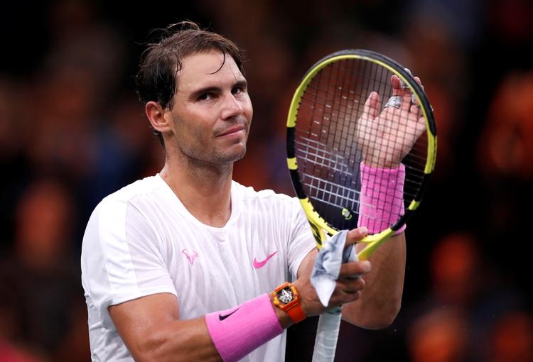 Nadal se retiró antes de jugar las semifinales del Masters de París