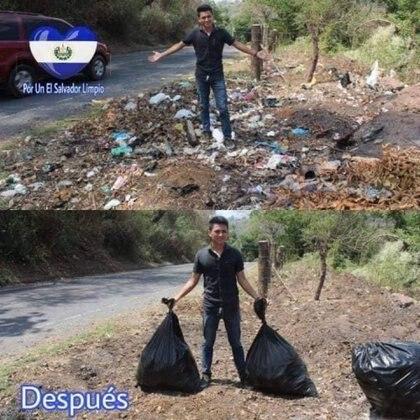 Una de las acciones en El Salvador.