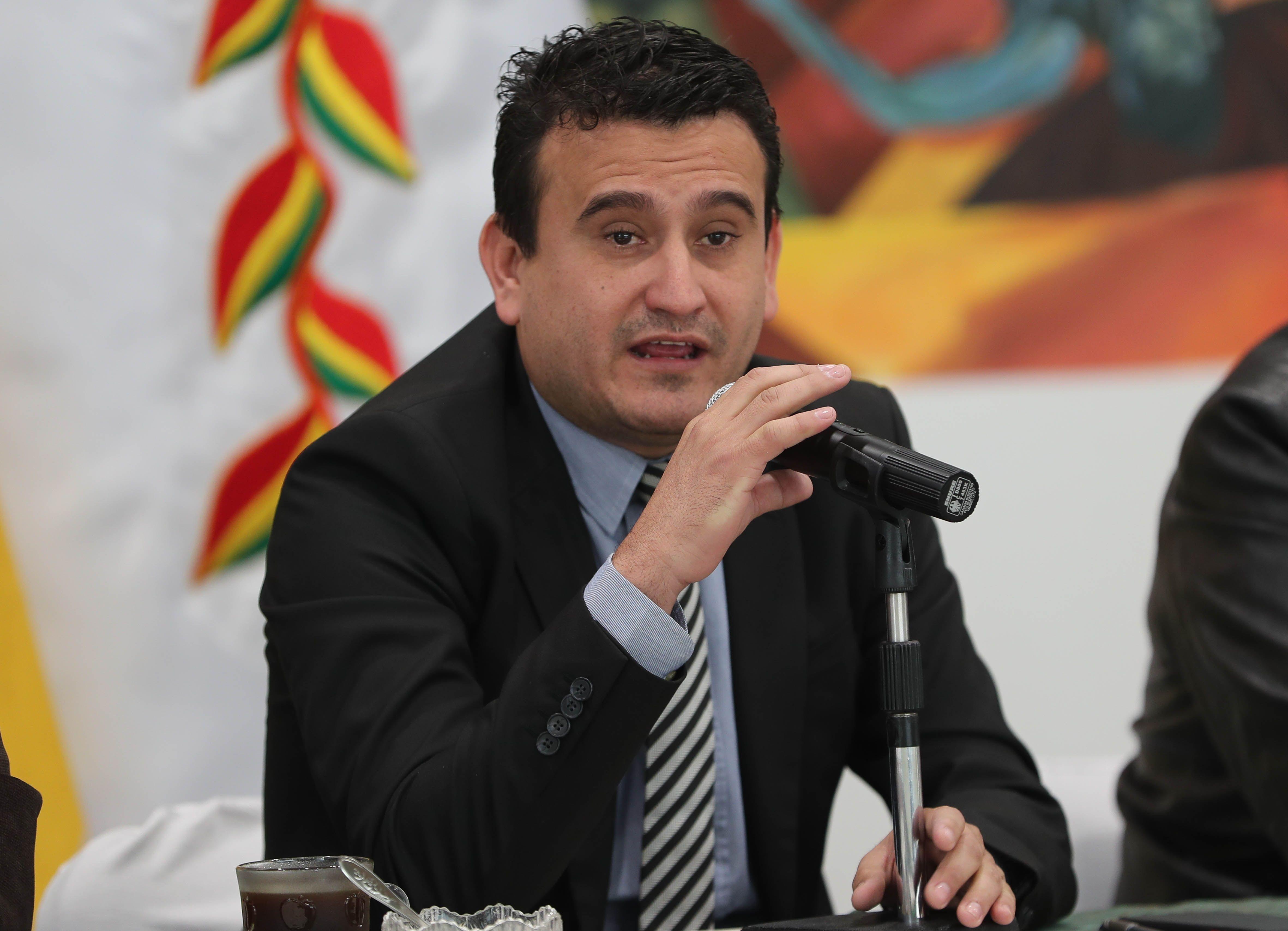 El exministro interino de Energías de Bolivia Rodrigo Guzmán, en una fotografía de archivo. EFE/Martín Alipaz