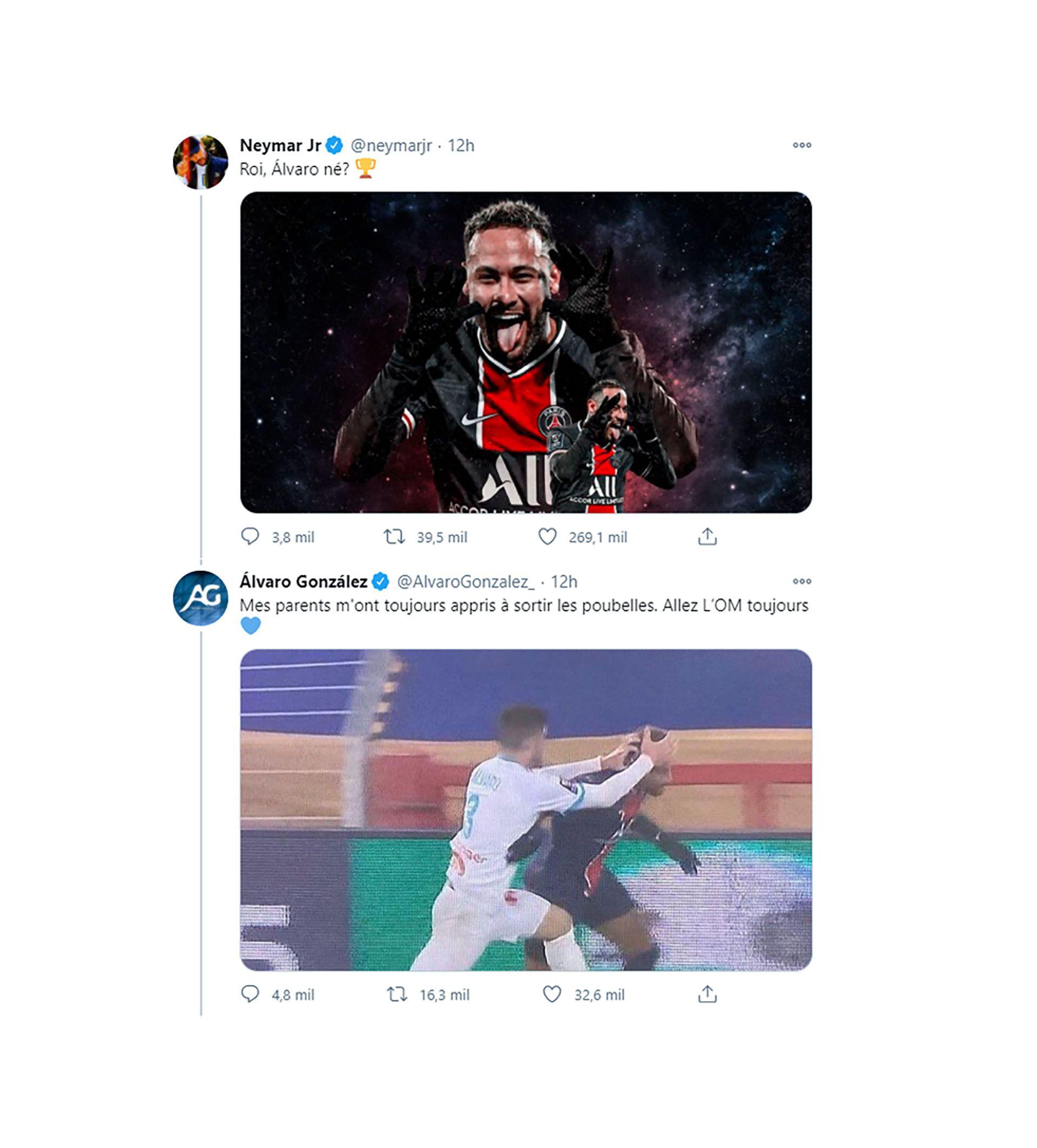 tuits neymar alvaro gonzalez