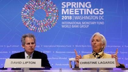Christine Lagarde y David Lipton
