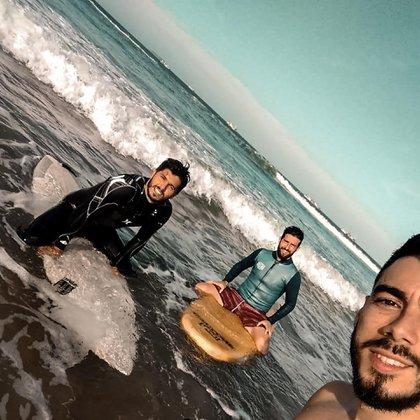 Pato Rodríguez y el surf, una de las pasiones que agarró en su paso por Australia (IG: @prshow)