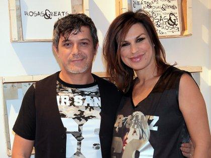 Alejandro Sanz y Raquel Perera, en los tiempos felices de su relación en 2014