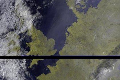 Un detalle del humo sobre el norte de Europa (Satelite Meteor M2)