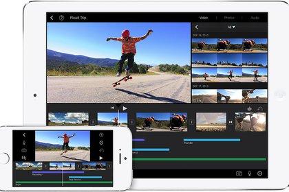 iMovie está integrada a las plataformas móviles de Apple.
