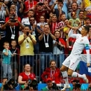Soccer Football - World Cup - Group B - Portugal vs Morocco - Luzhniki Stadium, Moscow, Russia - June 20, 2018 Portugal's Cristiano Ronaldo celebrates scoring their first goal REUTERS/Kai Pfaffenbach