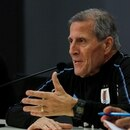 Soccer Football - International Friendly - Uruguay Press Conference - Netanya Stadium, Netanya, Israel - November 17, 2019 Uruguay coach Oscar Tabarez during the press conference REUTERS/Ammar Awad