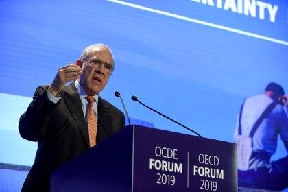 Jose Angel Gurria, Secretario General de la OCDE, durante la presentación del informe en París, Francia (ERIC PIERMONT / AFP)