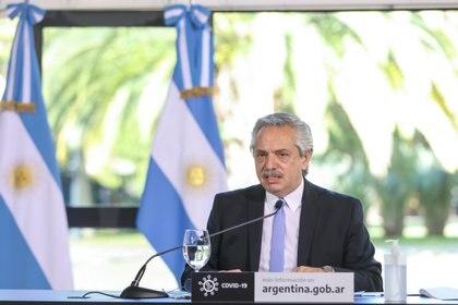 El Presidente volvió a sentar posición sobre el tema Vicentin y defendió la idea del gobierno nacional de expropiar la empresa cerealera (Esteban Collazo/Presidencia Arge / DPA)