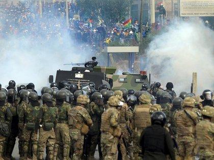 Protestas en Cochabamba. (Photo by STR / AFP)