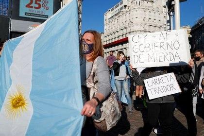 En las últimas semanas hubo varias protestas contra el gobierno y las medidas de cuarentena en medio del aumento de casos positivos