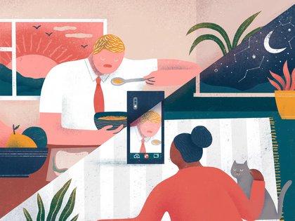 Algunas parejas, motivadas por sus carreras, deciden quedarse donde están en lugar de mudarse con sus cónyuges y, en tiempos recientes, algunas han cambiado de opinión sobre ese arreglo. (Mark Conlan/The New York Times)
