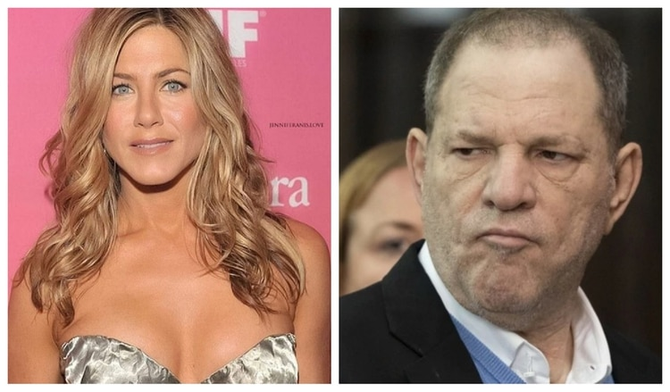 Jennifer Aniston y Harvey Weinstein