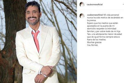El mensaje de Cau Bornes en su cuenta de Instagram