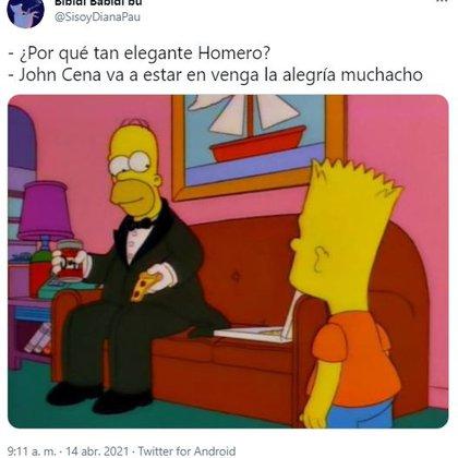 Con estos y más memes, muchos internautas esperaron con ansías la aparición de John Cena en la televisión mexicana (Captura: Twitter)