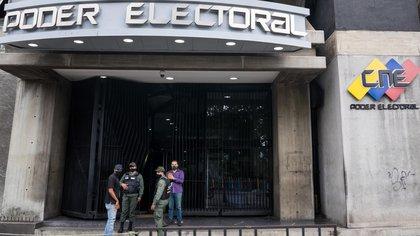 Le Conseil électoral national répond à la dictature de Nicolás Maduro (EFE / Miguel Gutiérrez)