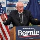 FILE PHOTO: Democratic U.S. presidential candidate Bernie Sanders speaks about coronavirus in Burlington, Vermont, U.S. March 12, 2020. REUTERS/Caleb Kenna/File Photo