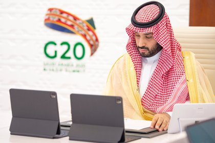 El príncipe Mohammed bin Salman de Arabia Saudita (Bandar Algaloud/Courtesy of Saudi Royal Court/Handout via REUTERS)