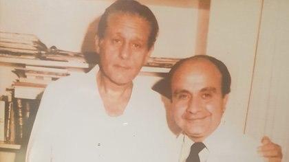 René Favaloro y Luis De La Fuente cuando trabajaban juntos