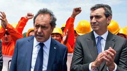 Florencio Randazzo junto a Daniel Scioli, en 2015 (NA)