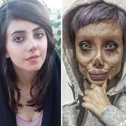 Faterneh Khishvand antes de convertirse en Sahar Tabar, influencer de Instagram en Irán