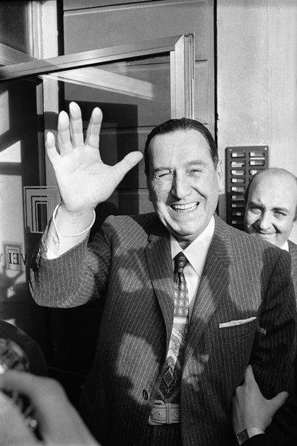 Perón en Roma, poco antes de embarcar hacia la Argentina luego de su largo exilio