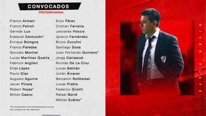 Los citados de Marcelo Gallardo para la vuelta al trabajo