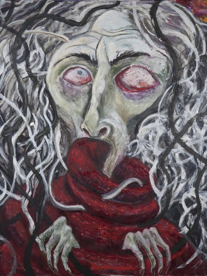 """Spirito Bizzarro"", 2018, óleo sobre tela (130 x 115 cm)"