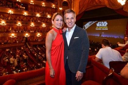 El economista Martín Redrado y María Lujan Sanguinetti (Juanjo Bruzza / Prensa Teatro Colón)
