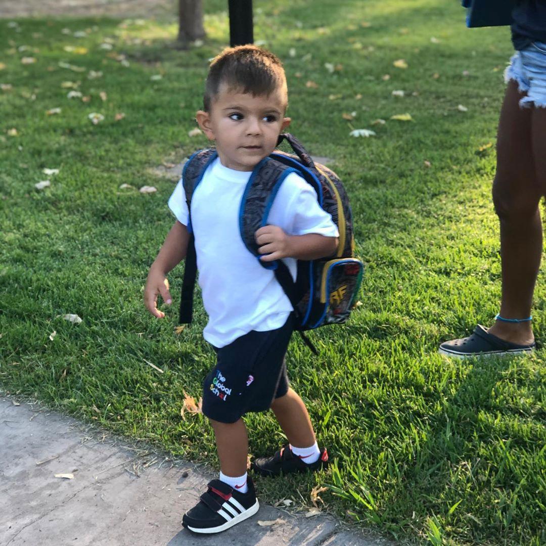 Roque, el hijo de Amalia Granata, volvió al colegio (Instagram)