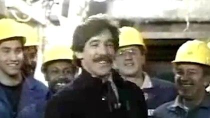 Geraldo Rivera, el presentador que dinamitó la bóveda del capo mafioso para buscar cadáveres y los millones perdidos (captura)