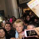 Xuxa, en su caótica llegada a Ezeiza que terminó en tragedia (Foto: Grosby Group)