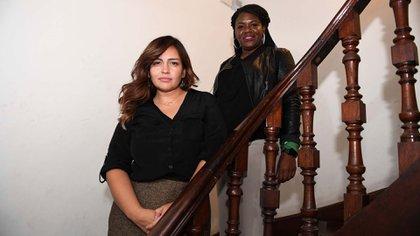 Roza Calderón y Cori Bush en Buenos Aires (Maximiliano Luna)