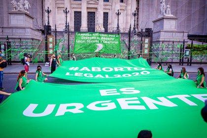 18/11/2020 Protestas de apoyo a la ley de legalización del aborto frente al Congreso de Argentina. SOCIEDAD  PAULA ACUNZO / ZUMA PRESS / CONTACTOPHOTO