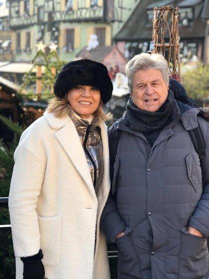Teté Coustarot con su pareja, Carlos Gaziglia (Crédito: @ttcoustarot)