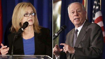 Marsha Blackburn y Phil Bredesen, los candidatos al Senado en Tennessee