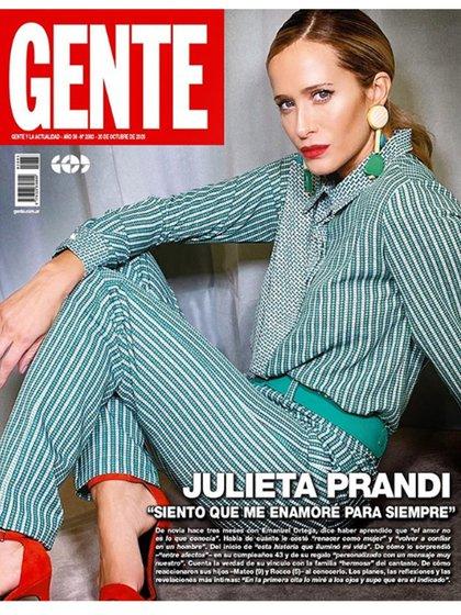 Julieta Prandi en la tapa de la revista Gente