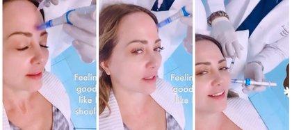 La también actriz compartió los efectos que el coronavirus dejó en su cara y la opción que tomó para mejorar su aspecto (Foto: Instagram de Andrea Legarreta)