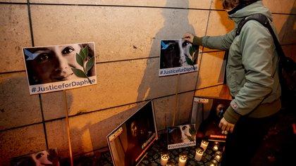 16/10/2019 Vigilia en honor a la periodista de investigación asesinada Daphne Caruana Galizia POLITICA INTERNACIONAL Christoph Soeder/dpa