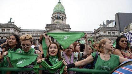 """El 19 de febrero tuvo lugar un """"pañuelazo"""" masivo frente al Congreso (Julieta Ferrario)"""