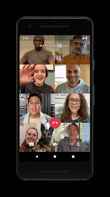WhatsApp permite hacer videollamadas de hasta 8 personas