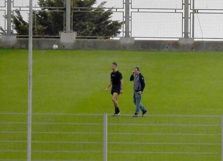Cristiano estuvo en el estadio de Madeira entrenando