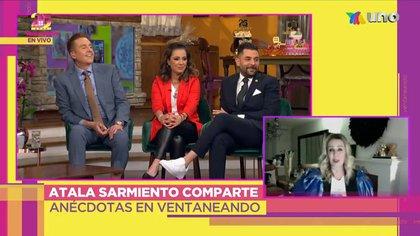 Durante la transmisión, Bisogno no desaprovechó la oportunidad para bromear con Atala (Captura: Twitter @VentaneandoUno)