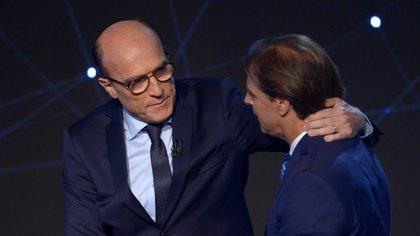 Daniel Martínez y Luis Lacalle Pou (Reuters)
