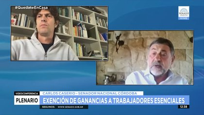 Martín Lousteau y Carlos Caserio, un clásico cruce en la comisión de Presupuesto