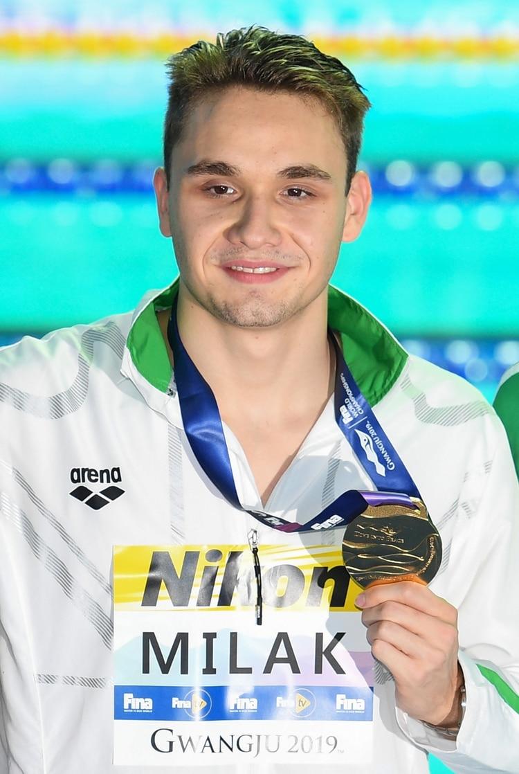 Kristof Milak ganó final en 200 metros estilo mariposa (AFP)