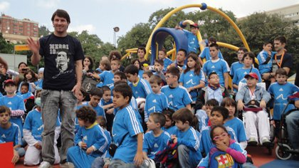 Leo Messi, el rostro visible de la Fundación