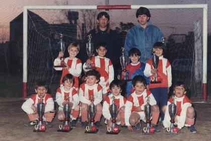 Messi en Grandoli, donde dio sus primeros pasos con el fútbol
